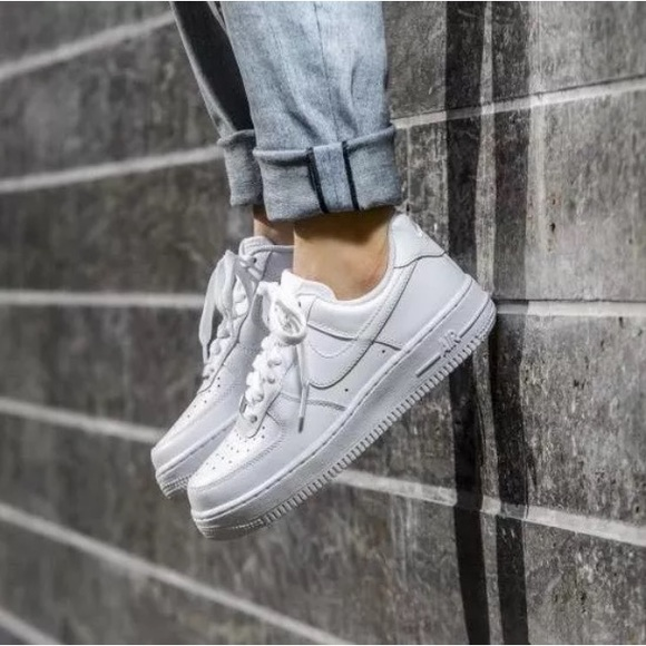 finest selection b2ca6 a085a Women s Nike Air Force 1  07 White Sneakers